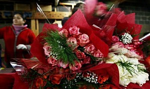 Florists Prepare For St Valentine's Day Holiday