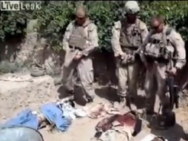 Marines Urinating on Bodies