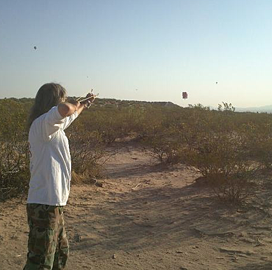 Scott Shoots at Balloons -- Balloonfest 2012