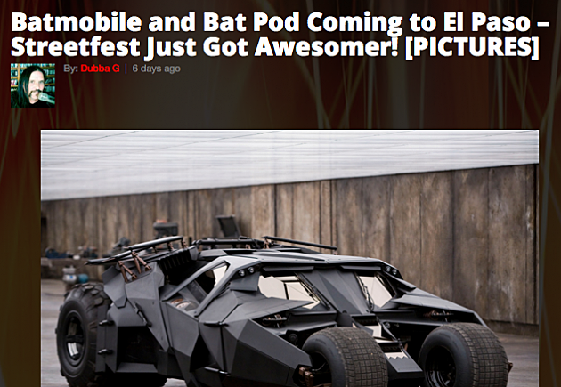 Batmobile at Streetfest
