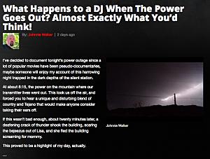 KLAQ Power Outage