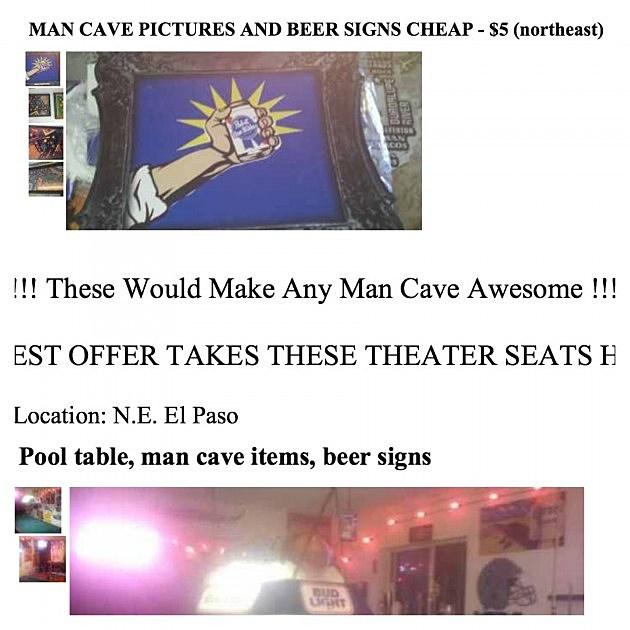 Man Cave El Paso : Poll man cave category on el paso s craigslist