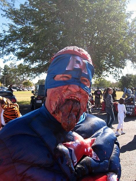 KLAQ morning show zombies halloween parade