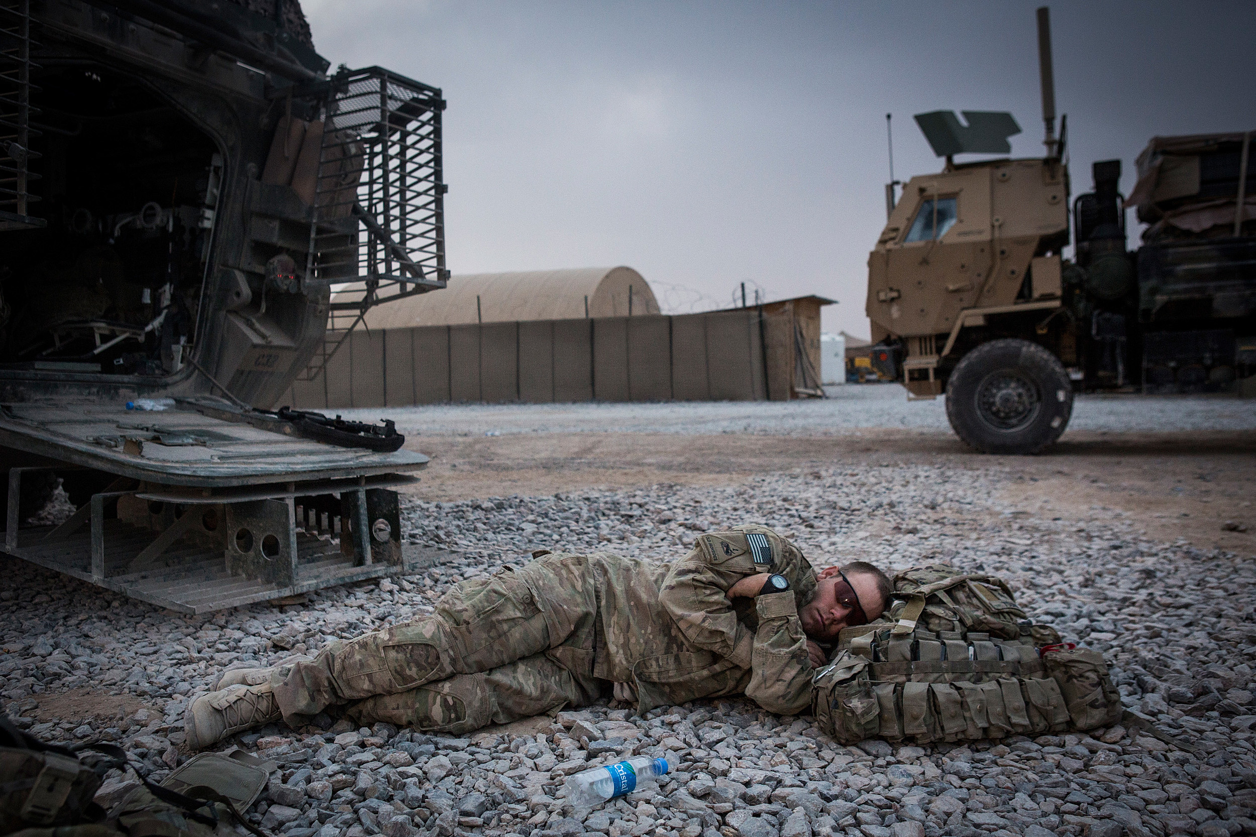 U. S. Government trying shock therapy to keep soldiers awake on duty.
