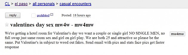 craigslist seeking men el paso