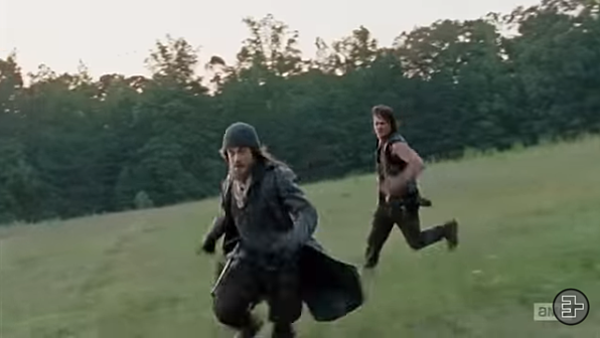 The walking dead chase scene made comical