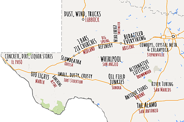Map Of West Texas According To Urban Dictionary - Map of west texas