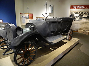 A car that survived the attack in 1916