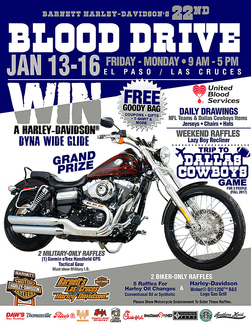 Donate Blood And You Might Win A Harley Davidson