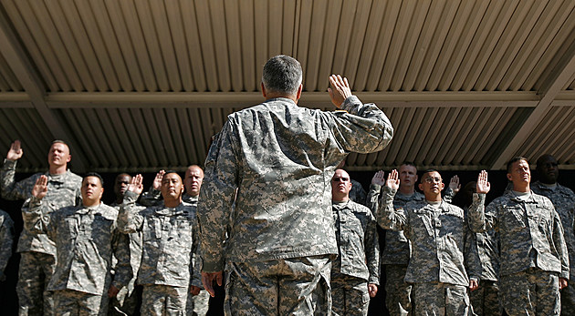 Army Chief Of Staff Gen. Casey Swears In New Army Recruits